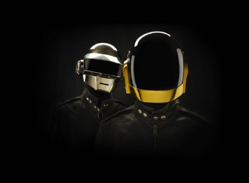 DAFT PUNK -Black cutout canvas print - self adhesive poster - photo print